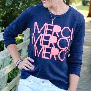 J. Crew Factory Merci Navy Blue M Sweater Crew Med